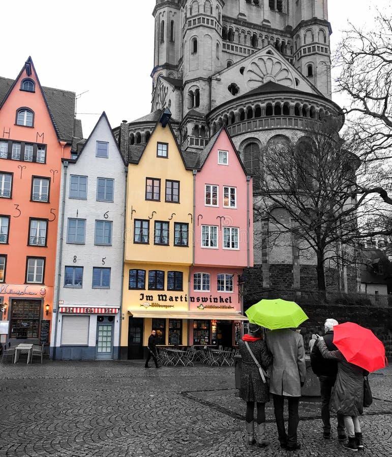 Ciudad colorida fotos de archivo