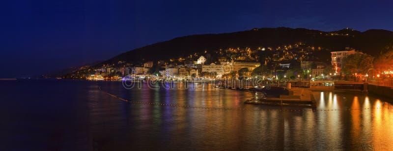 Ciudad Croacia de Opatija imagen de archivo libre de regalías