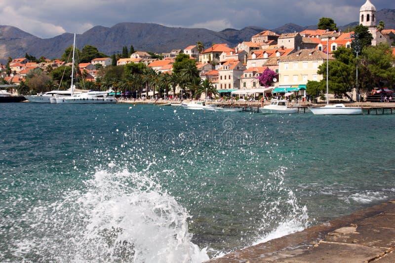 Ciudad croata vieja Cavtat imagen de archivo libre de regalías