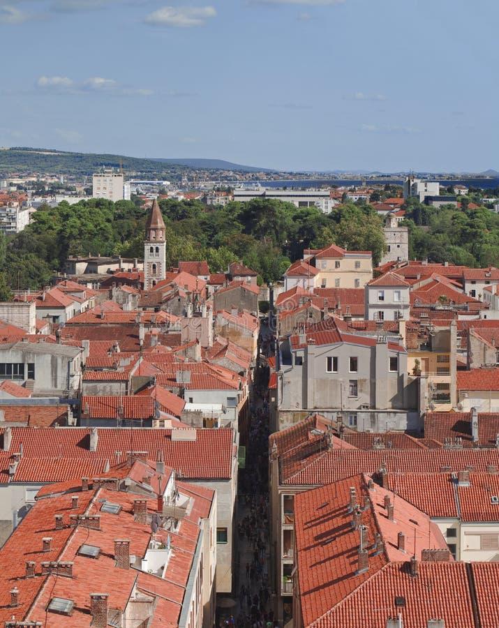 Ciudad croata vieja Zadar foto de archivo