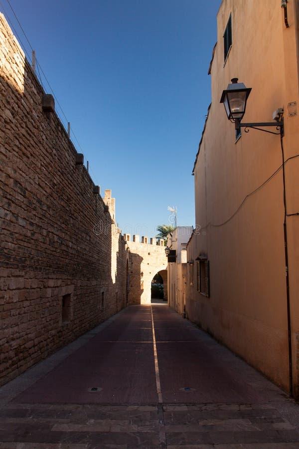 Ciudad de Alcudia imagen de archivo