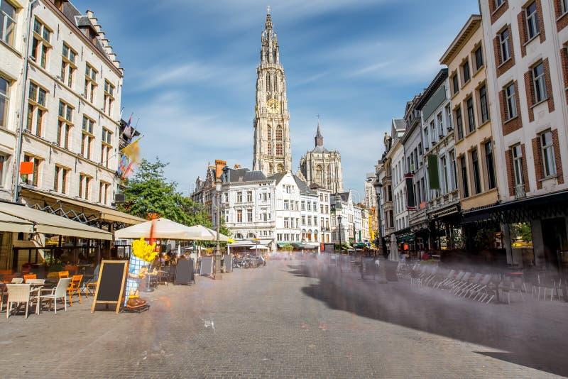 Ciudad de Antwerpen en Bélgica imágenes de archivo libres de regalías