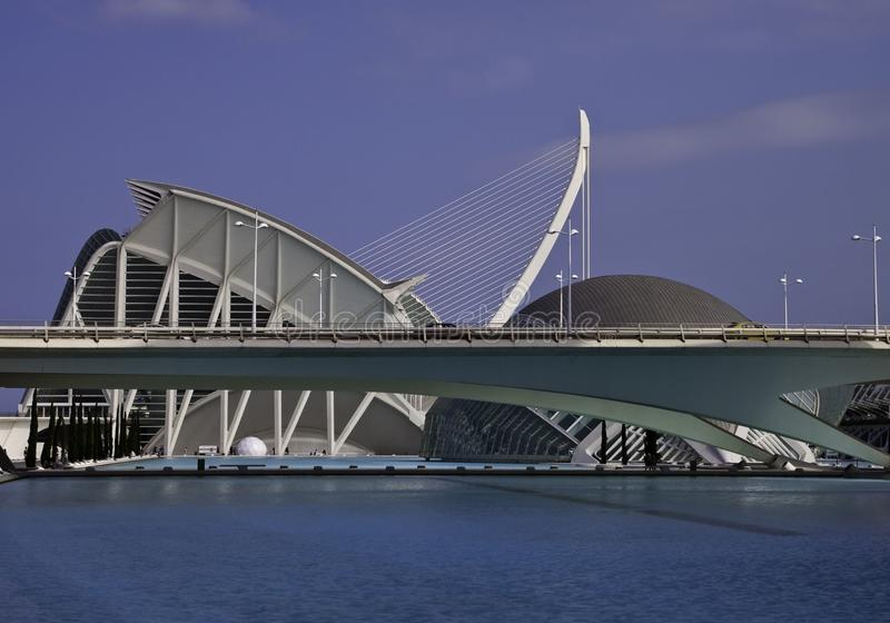 Ciudad de artes, Valencia imagen de archivo libre de regalías