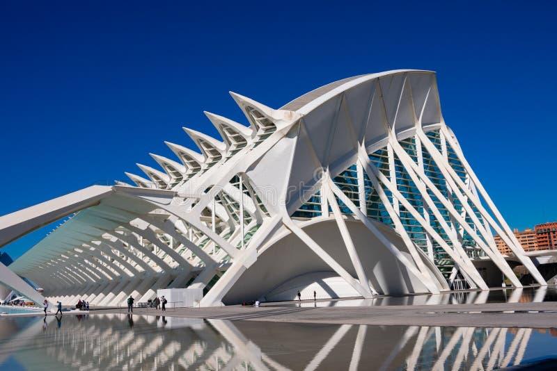 Ciudad de artes y de ciencias Arquitectos Santiago Calatrava y Felix Candela fotos de archivo libres de regalías