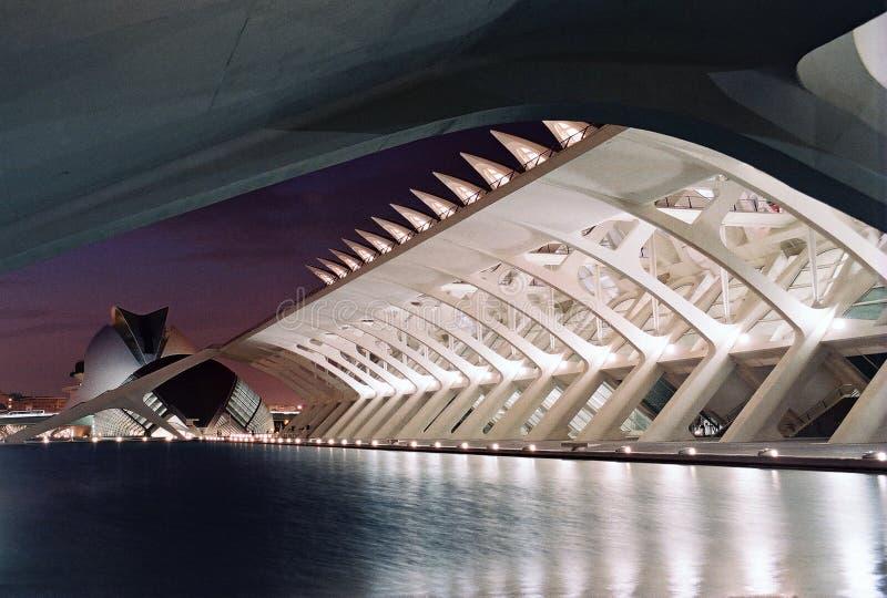 Ciudad de artes y de ciencias en Valencia, España imagen de archivo libre de regalías