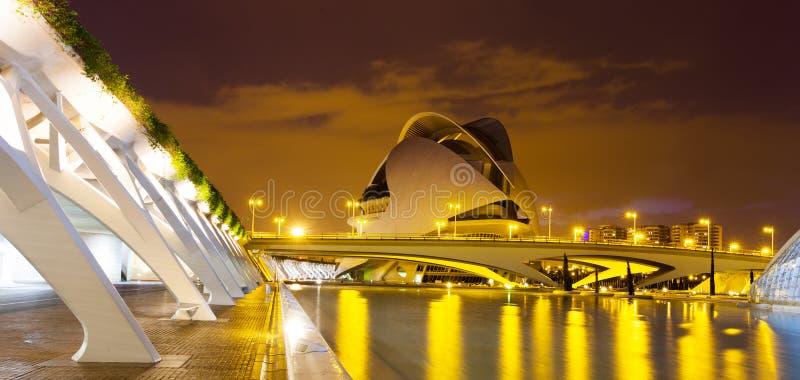 Ciudad de artes y de ciencias   en Valencia, España. foto de archivo libre de regalías