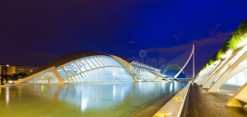 Ciudad de artes y de ciencias en Valencia, España imágenes de archivo libres de regalías