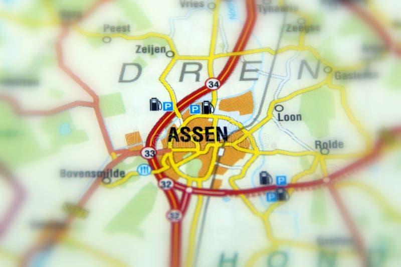 Ciudad de Assen - Países Bajos imagen de archivo libre de regalías