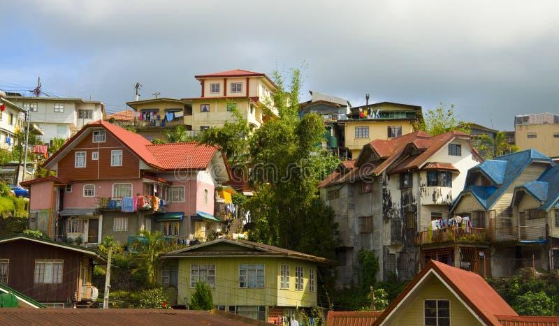 Ciudad de Baguio, el Pilipinas fotografía de archivo