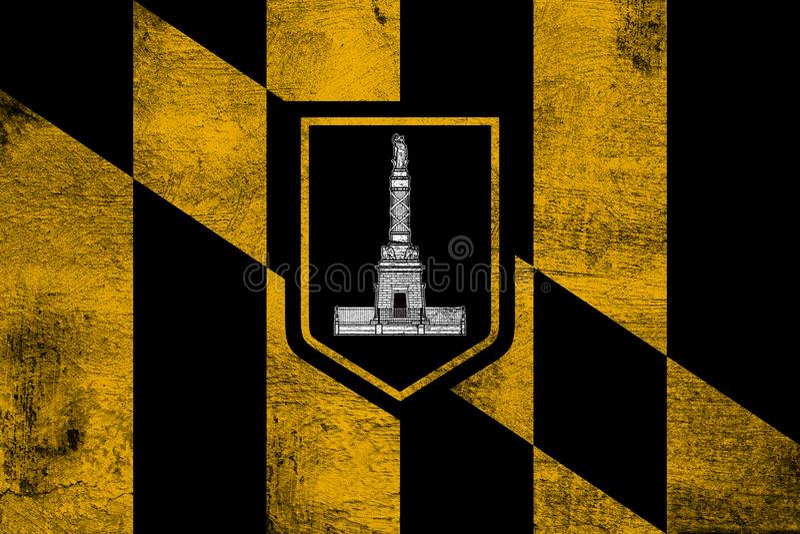 Ciudad de Baltimore ilustración del vector