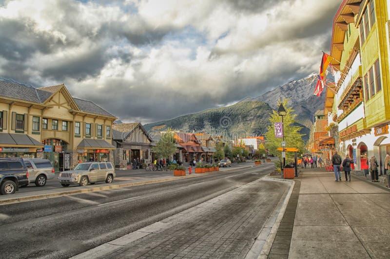 Ciudad de Banff Springs artística imagenes de archivo