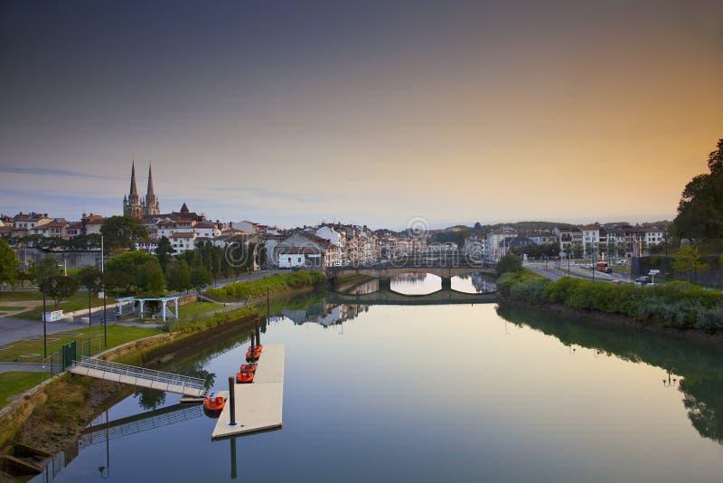 Ciudad de Bayonne fotos de archivo