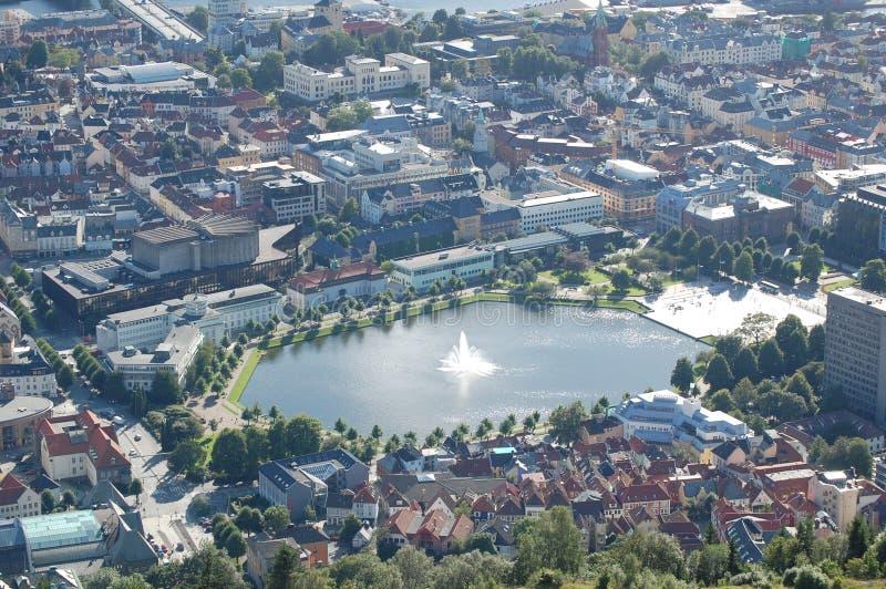 Ciudad de Bergen foto de archivo