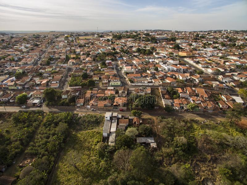 Ciudad de Botucatu en Sao Paulo, el Brasil imagen de archivo