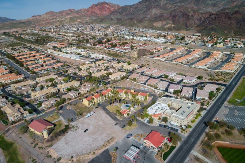 Ciudad de Boulder en Nevada, Estados Unidos fotos de archivo