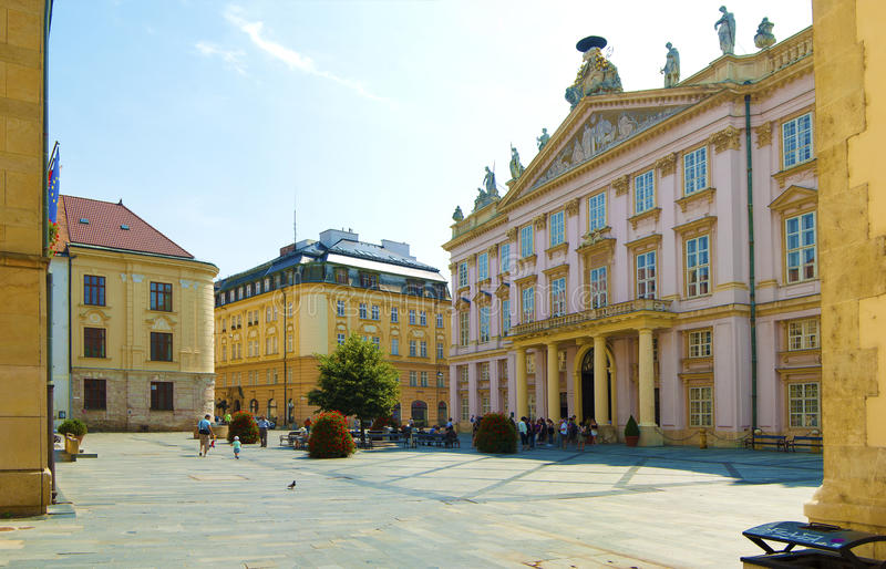 Ciudad de Bratislava imagen de archivo