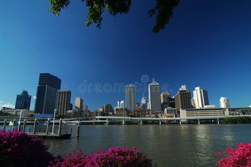 Ciudad de Brisbane fotografía de archivo libre de regalías