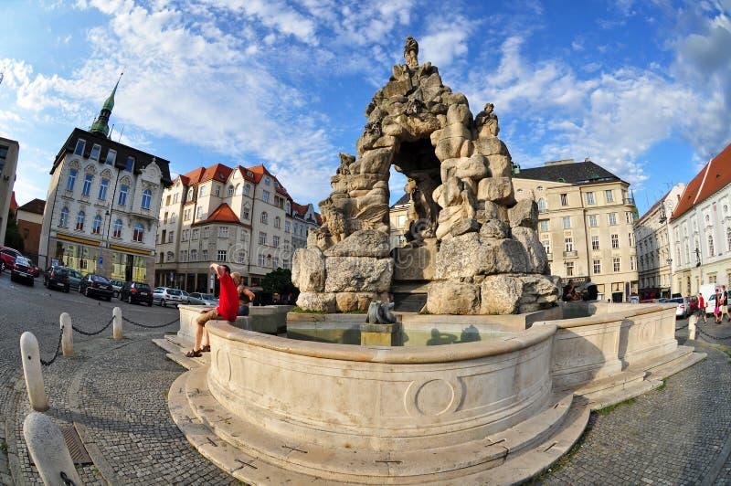 Ciudad de Brno Moravia foto de archivo libre de regalías