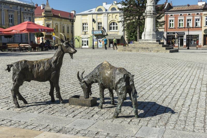 Ciudad de Brzesko en Polonia imagenes de archivo