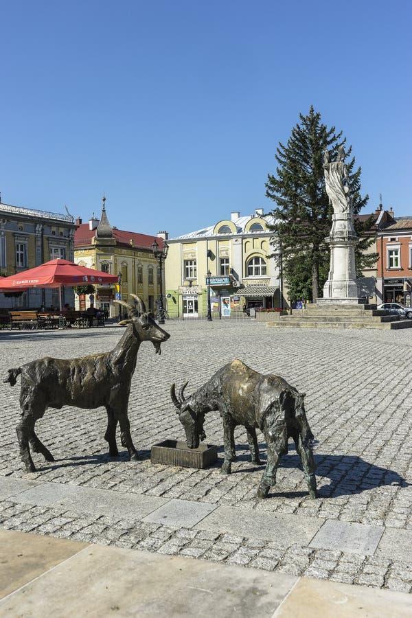Ciudad de Brzesko en Polonia imagen de archivo