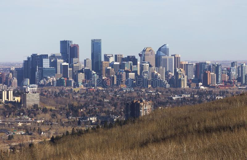 Ciudad de Calgary Alberta Canada Downtown Skyline Cityscape fotos de archivo