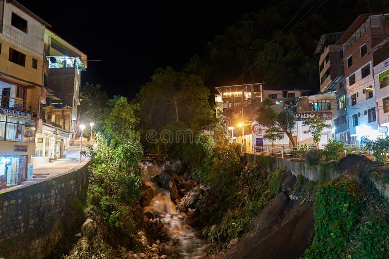 Ciudad de Calientes del Agua foto de archivo