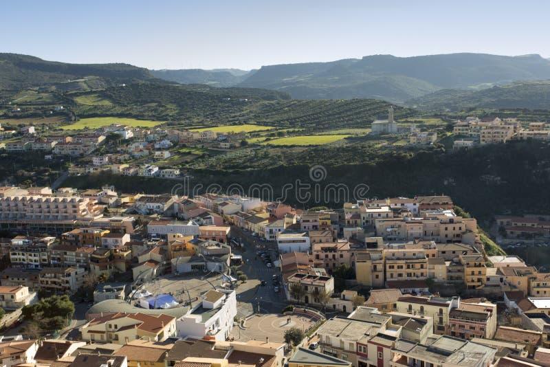 Ciudad de Castelsardo en Cerdeña fotografía de archivo libre de regalías