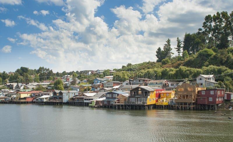 Ciudad de Castro, Chiloe Chile fotos de archivo
