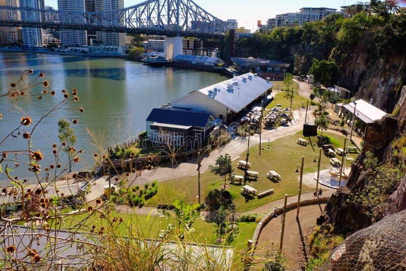 Ciudad 5 de cena al aire libre de Brisbane imágenes de archivo libres de regalías