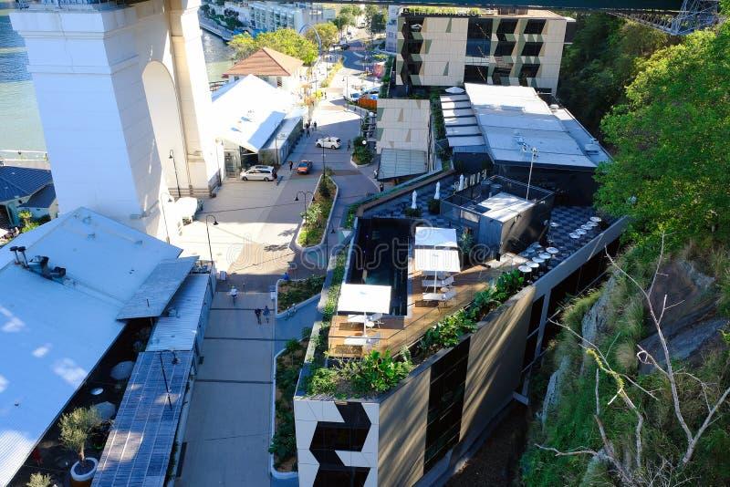 Ciudad 5 de cena al aire libre de Brisbane imagenes de archivo