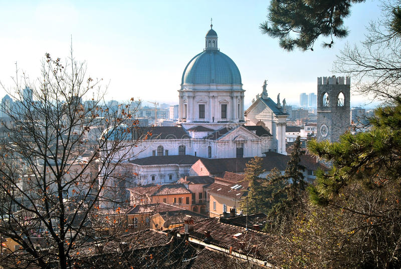Ciudad de centro de Brescia foto de archivo libre de regalías