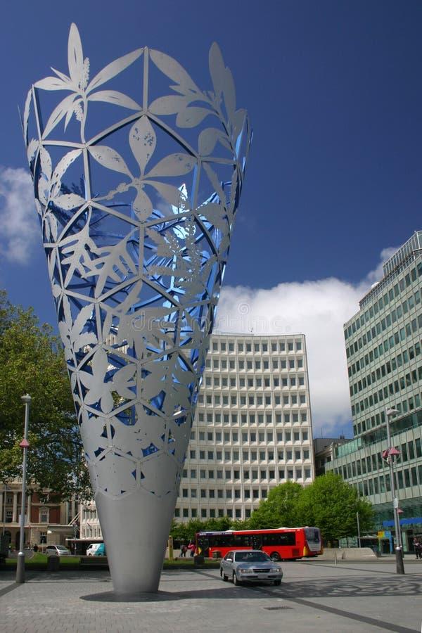 Ciudad de centro de Christchurch fotografía de archivo