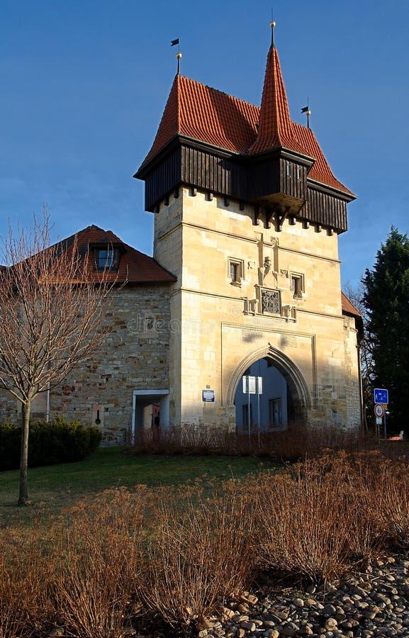 Ciudad de centro histórica Louny imágenes de archivo libres de regalías