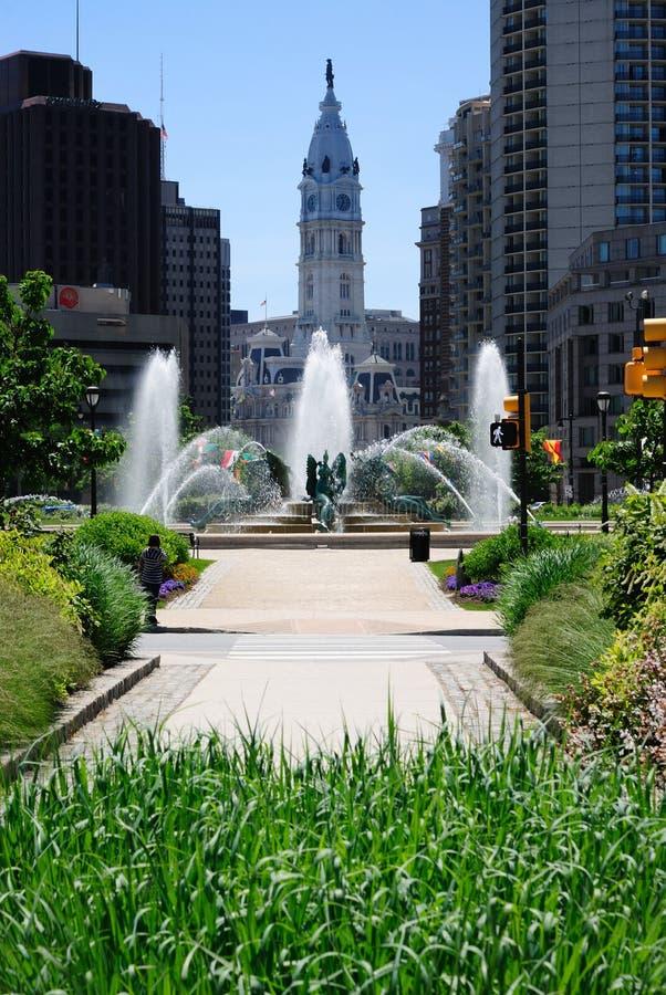 Ciudad de centro Philadelphia fotografía de archivo