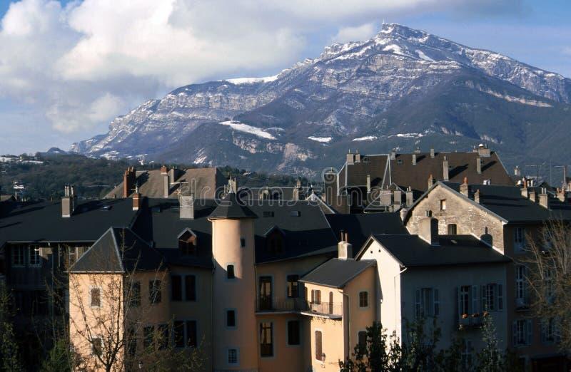 Ciudad de Chambery en la col rizada - Francia foto de archivo libre de regalías