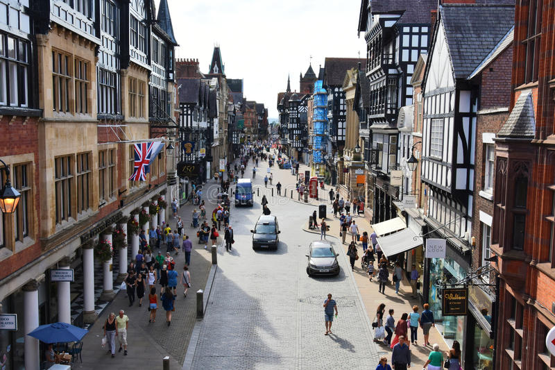 Ciudad de Chester imágenes de archivo libres de regalías
