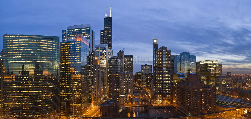Ciudad de Chicago imágenes de archivo libres de regalías