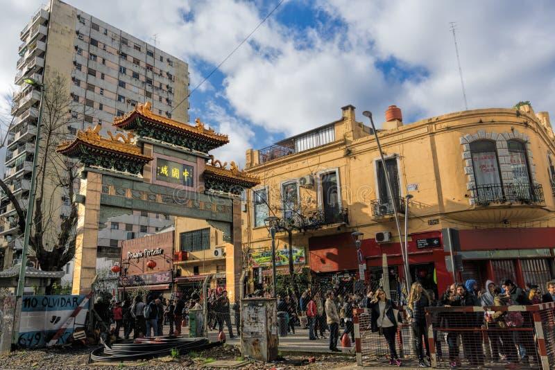 Ciudad de China en la vecindad de Belgrano, Buenos Aires, la Argentina foto de archivo libre de regalías