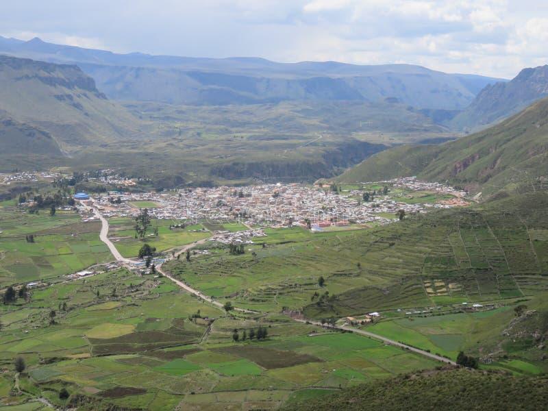Ciudad de Chivay Arequipa Perú fotografía de archivo libre de regalías