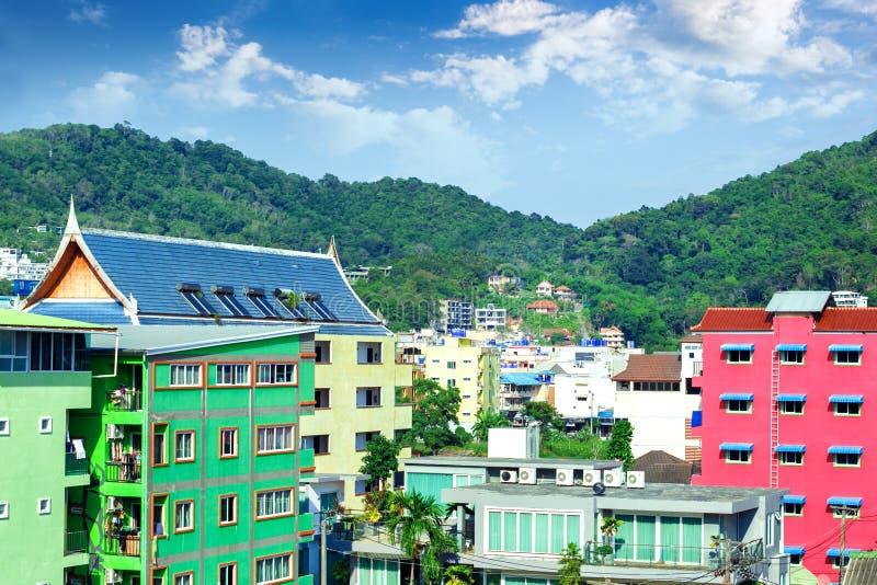 Ciudad de complejo playero de Patong concepto del recorrido imagen de archivo libre de regalías