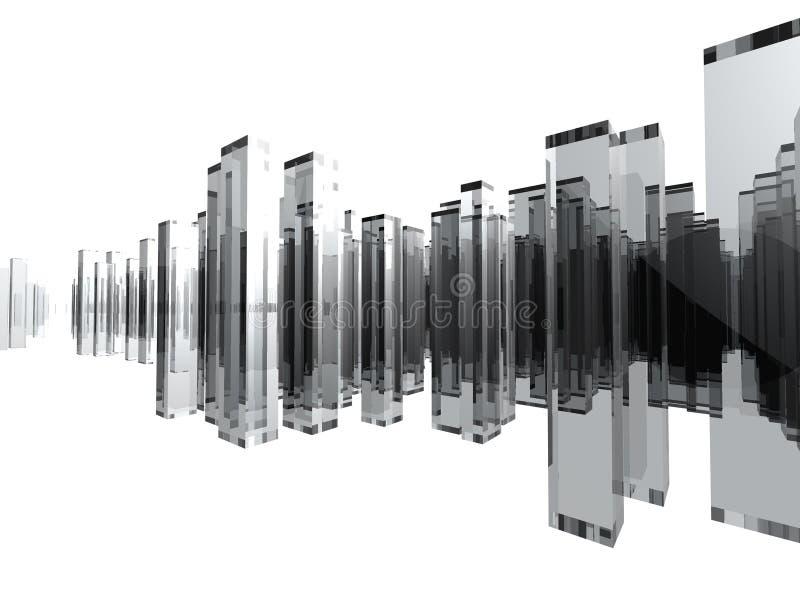 Ciudad de cristal fotografía de archivo