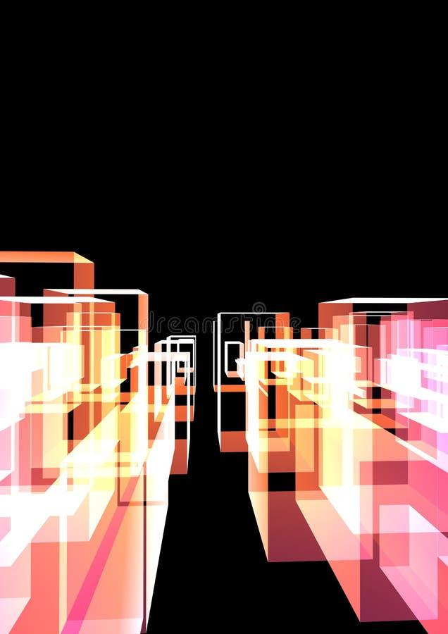 Ciudad de cristal abstracta stock de ilustración