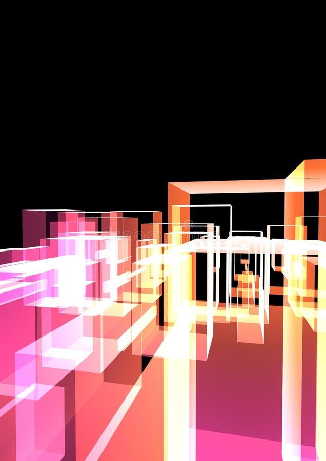 Ciudad de cristal abstracta ilustración del vector