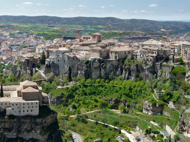Ciudad de Cuenca en España fotografía de archivo libre de regalías