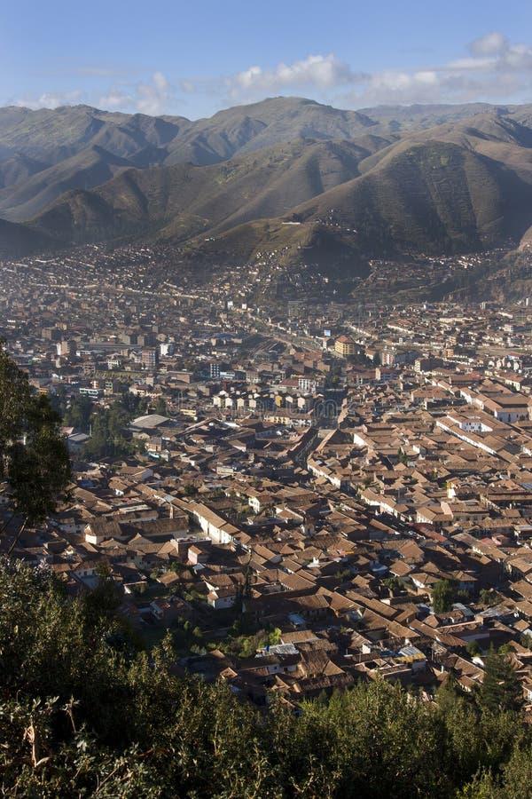 Ciudad de Cuzco en Perú fotos de archivo libres de regalías