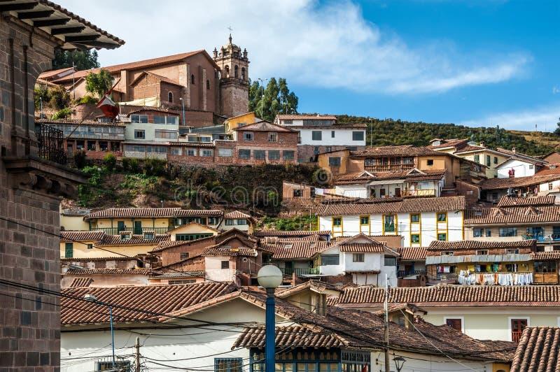 Ciudad de Cuzco en Perú imagen de archivo