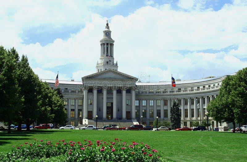 Ciudad de Denver y edificio del consejo imagen de archivo libre de regalías