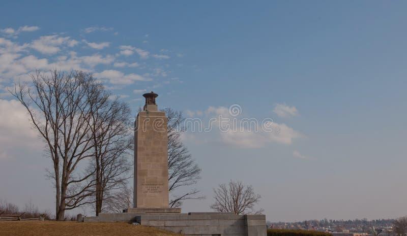 Ciudad de desatención ligera de la paz de Gettysburg, Pennsylvania imagenes de archivo