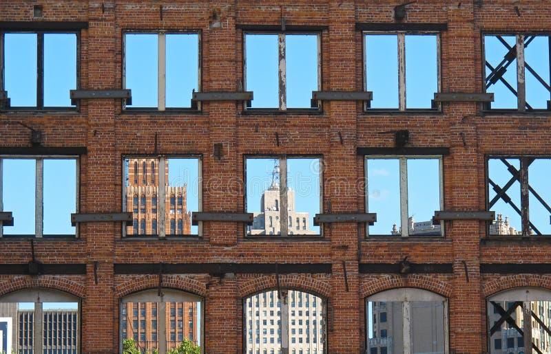 Ciudad de Detroit fotos de archivo
