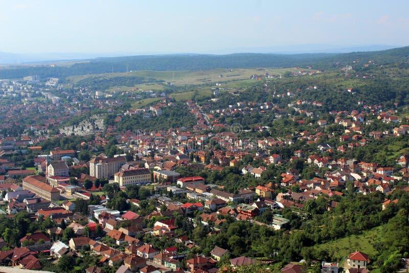 Ciudad de Deva, Rumania foto de archivo libre de regalías